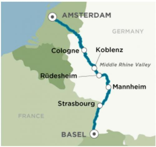 Our Route on the River / Sunset in Koblenz
